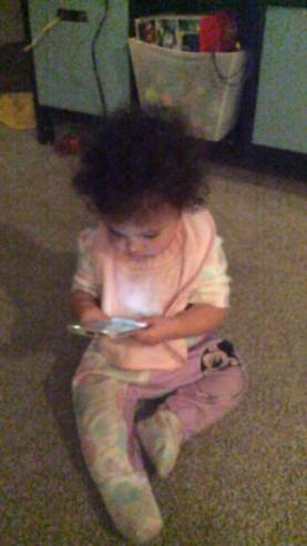 Checking Email at 8 Months