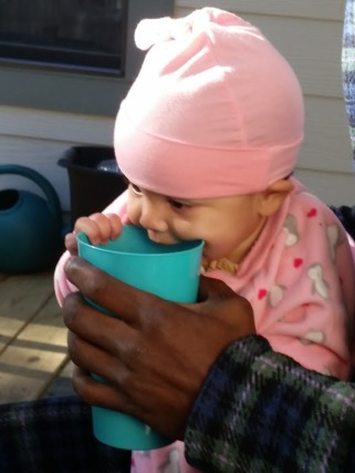 Drinking Daddy's Coffee
