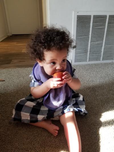 Eating Peach2