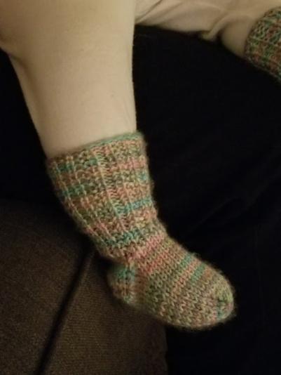 Hand-knit socks from Mom's friend, Preston.